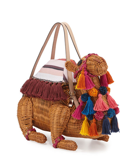 kate spade new york spice things up wicker camel bag, natural/multi