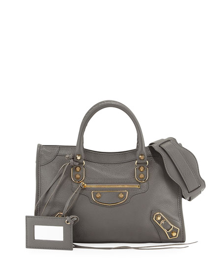 Balenciaga Classic Metallic Edge City Small Tote Bag,