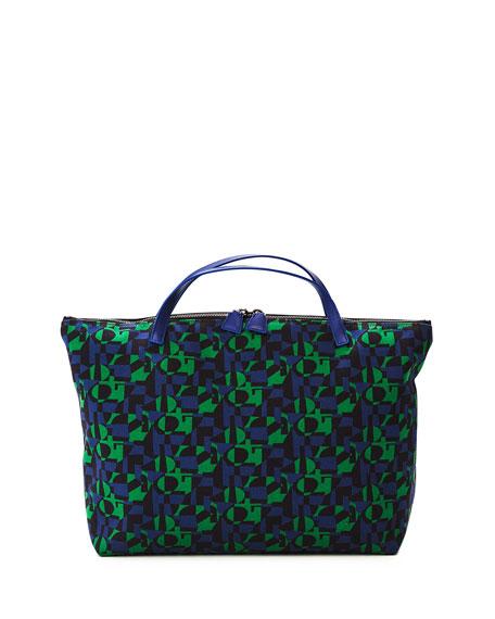 Ai Medium Laser-Cut Leather Shoulder Bag
