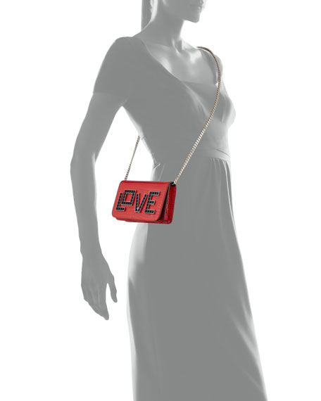 Ginny Black Widow Clutch Bag, Red