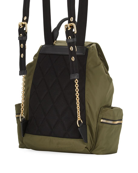 Prorsum Nylon Patches Backpack, Green
