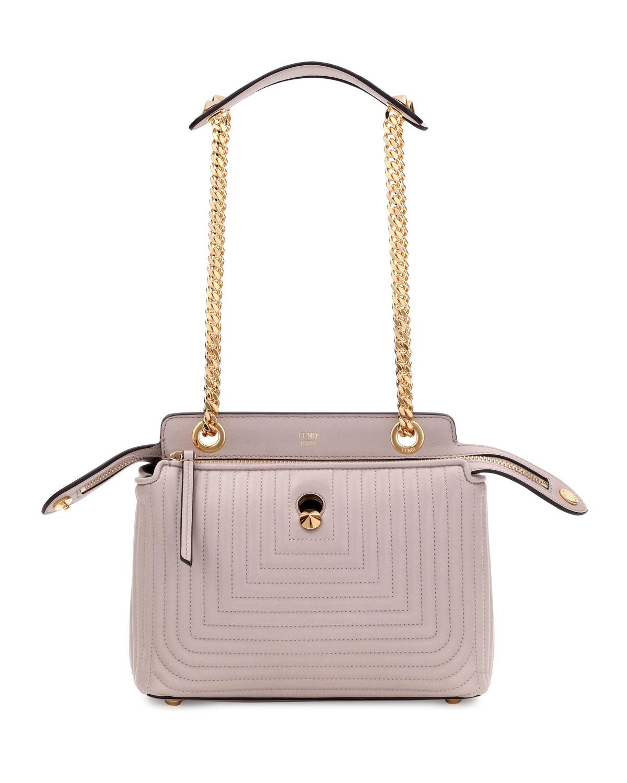5a48709f371c8 Fendi Dotcom Click Medium Quilted Chain Shoulder Bag