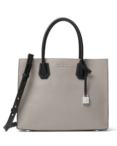 Mercer Large Convertible Tote Bag, Gray/Black