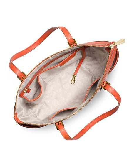Jet Set Top-Zip Saffiano Tote Bag