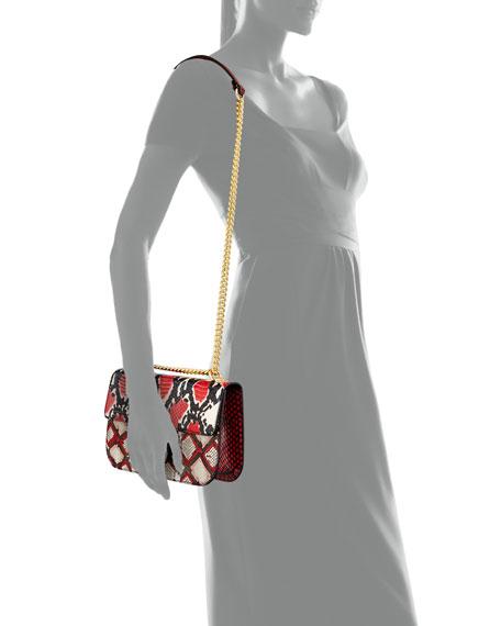 Insignia Python Chain Shoulder Bag, White