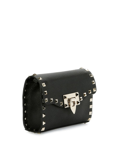 Small Rockstud Flap Shoulder Bag