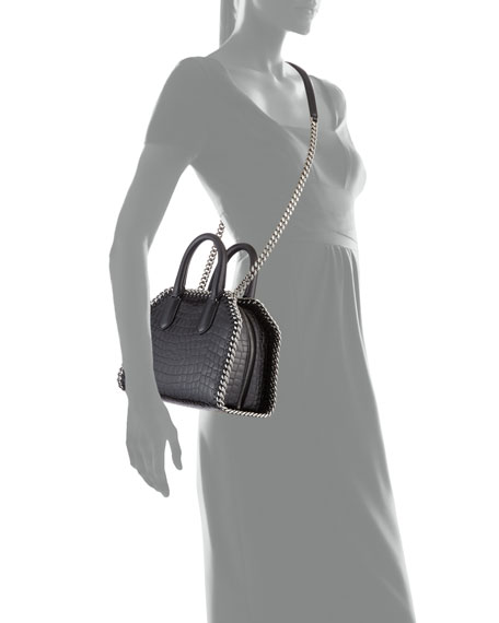 Mini Alter Crocodile-Embossed Handbag