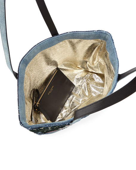 Wingman Striped Denim Tote Bag