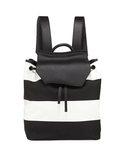 Nancy Striped Canvas Backpack