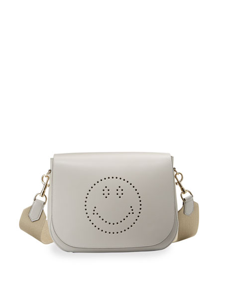Ebury Satchel Smiley Shoulder Bag, Light Gray