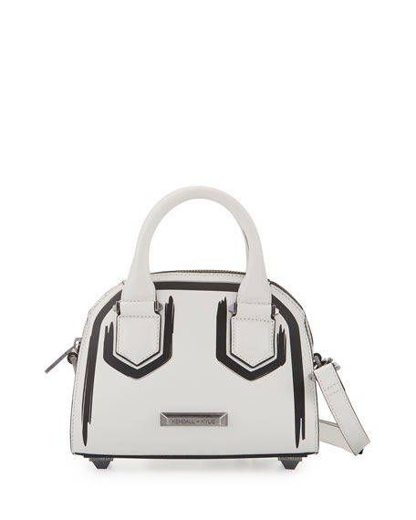 Kendall + Kylie Holly Mini Leather Satchel Bag,