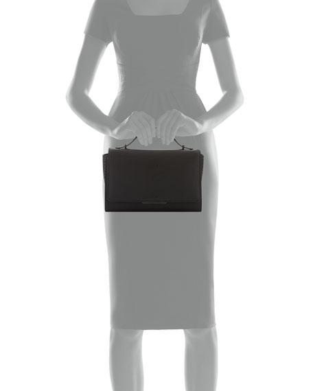 Zoe Leather Shoulder Bag, Black