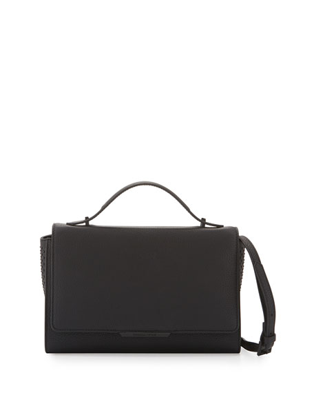 Kendall + Kylie Zoe Leather Shoulder Bag, Black