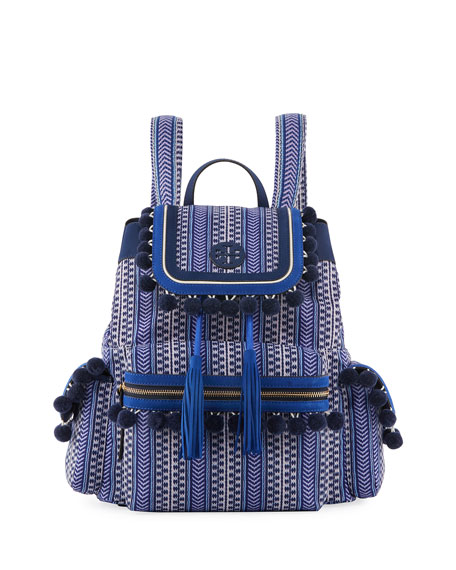 Tory Burch Scout Printed Pompom Backpack