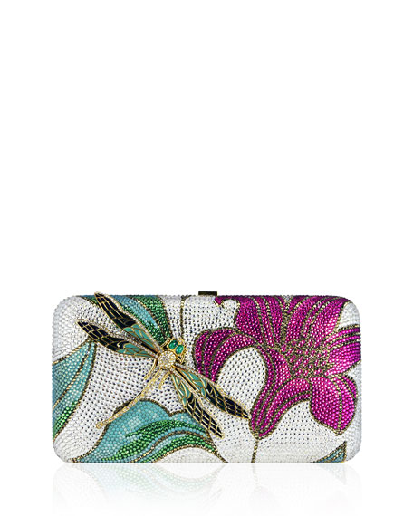 Judith Leiber Couture Lily & Dragonfly Crystal Minaudiere