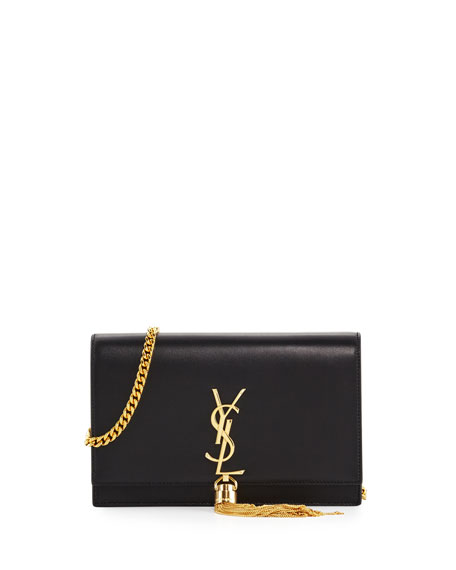 Saint Laurent Kate Monogram YSL Tassel Chain Wallet