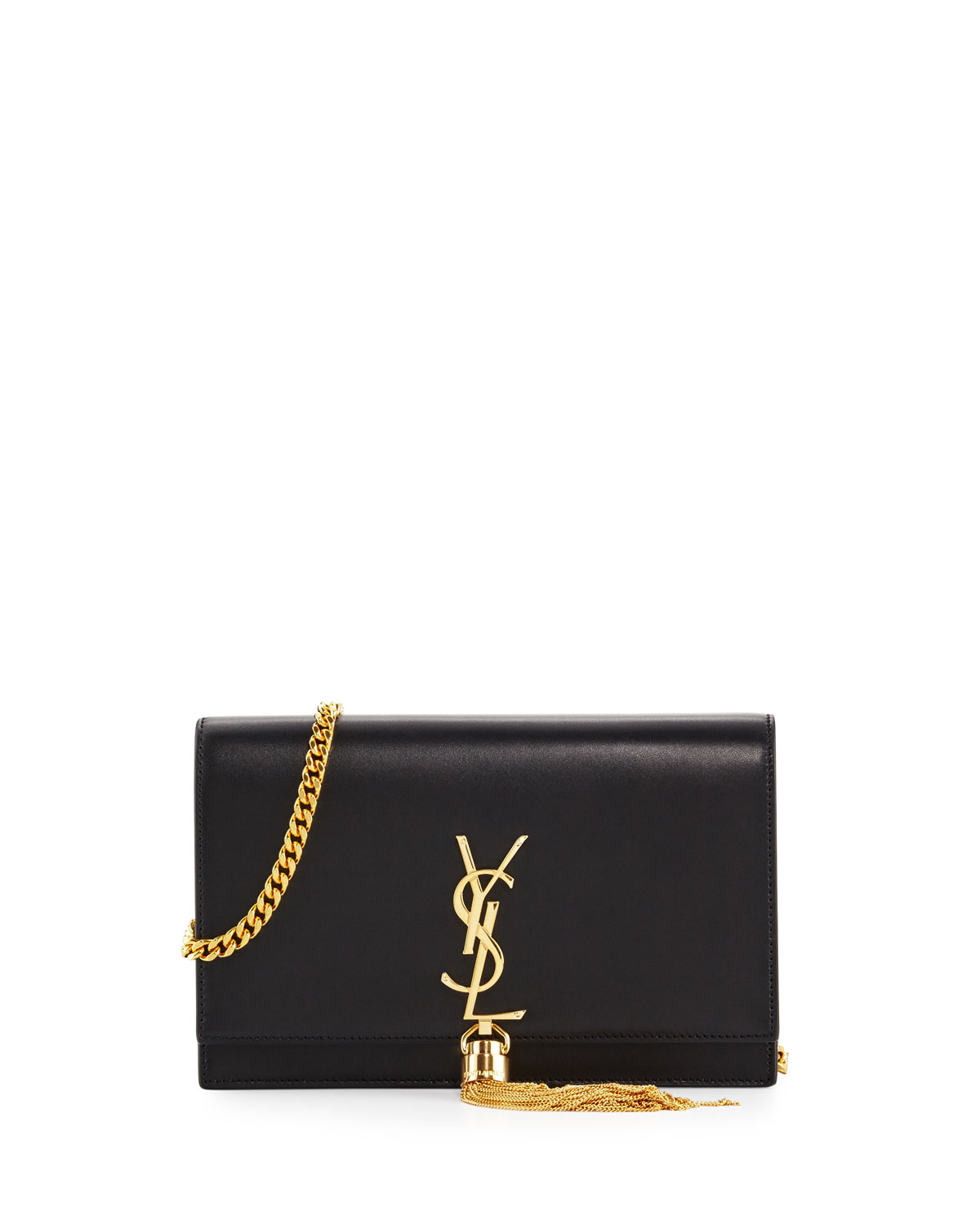 Saint Laurent Kate Monogram YSL Tassel Chain Wallet  b505a99bc1287