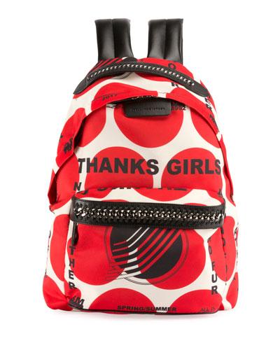Thanks Girls Chain-Trim Mini Backpack, Red