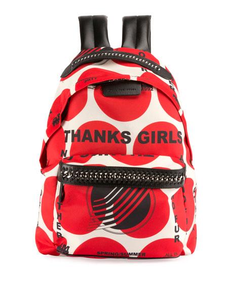 Stella McCartney Thanks Girls Chain-Trim Mini Backpack, Red