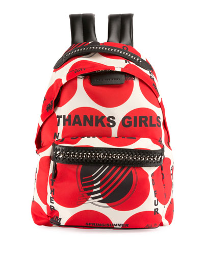 Thanks Girls Chain-Trim Mini Backpack, Red