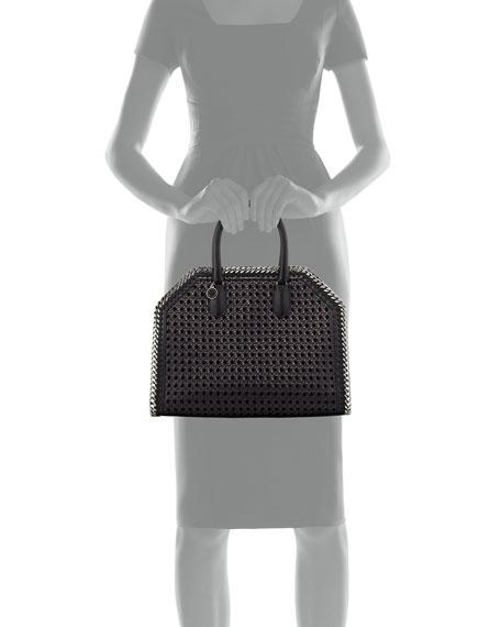 Falabella Medium Wicker Tote Bag, Black
