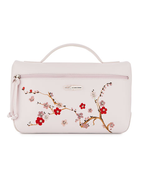 Roseau Sakura Cosmetics Case, Pink