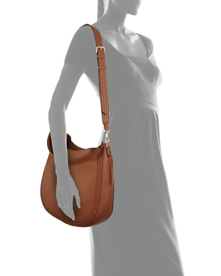 Unlined Convertible Braided Hobo Bag