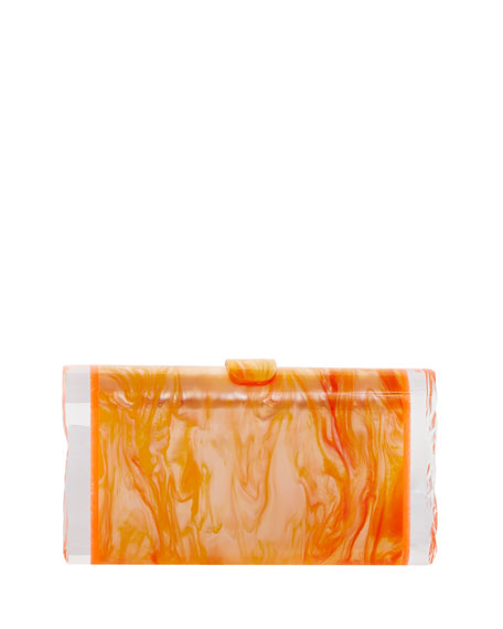 Edie Parker Lara Backlit Resin Clutch Bag