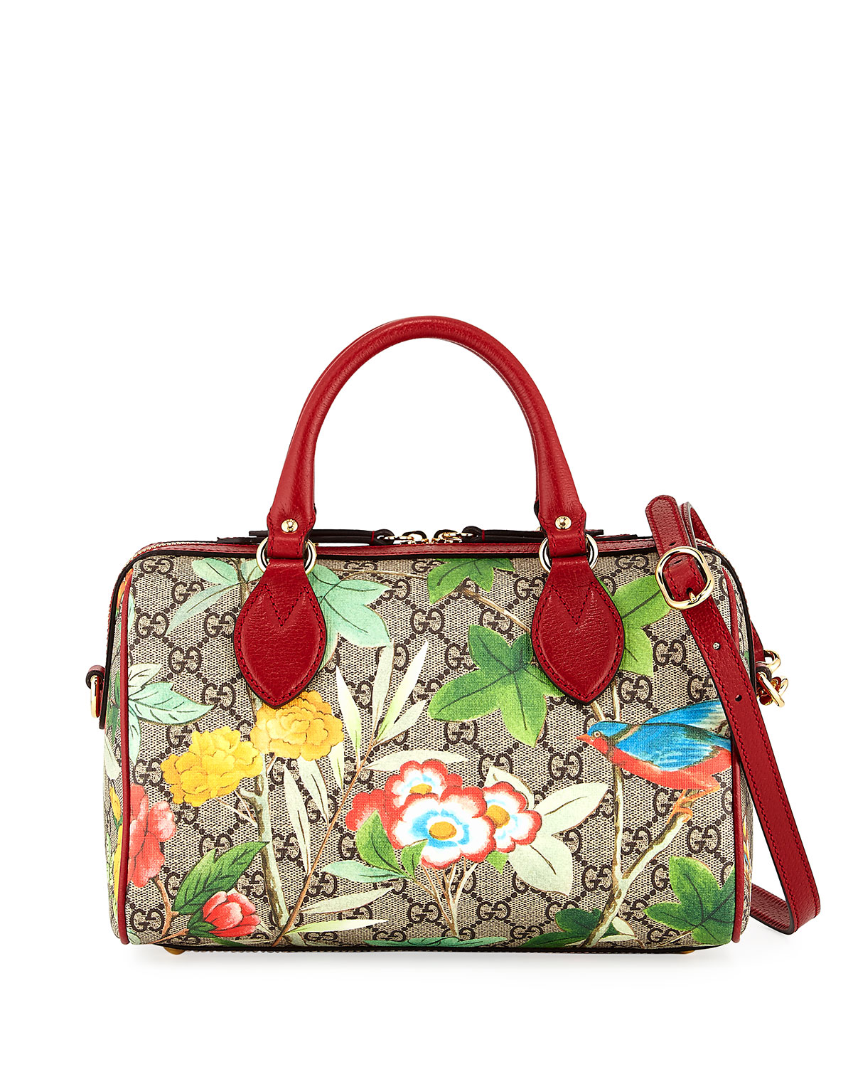 6be0af8d7df Gucci Tian GG Supreme Small Top-Handle Bag