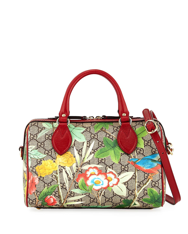 e3b1b71d1ba Gucci Tian GG Supreme Small Top-Handle Bag