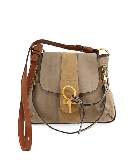 Lexa Small Shoulder Bag, Gray