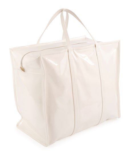 Bazar XL Patent Shopper Tote Bag