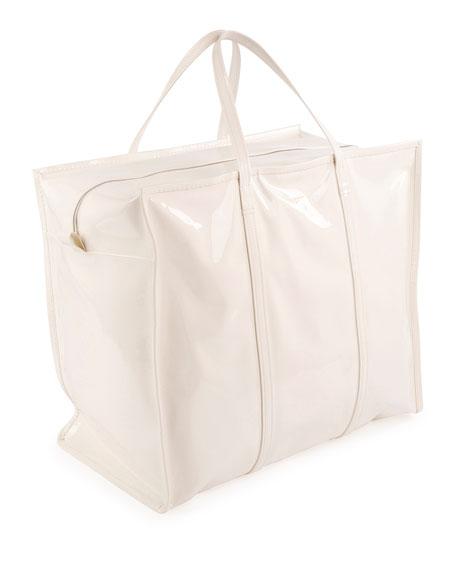 Bazar XL Patent Shopper Tote Bag