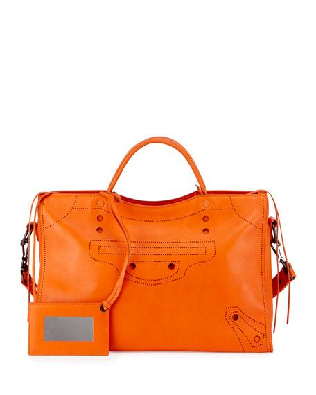 Balenciaga Blackout City Aj Handbag Leather Mini v5lqmJHa