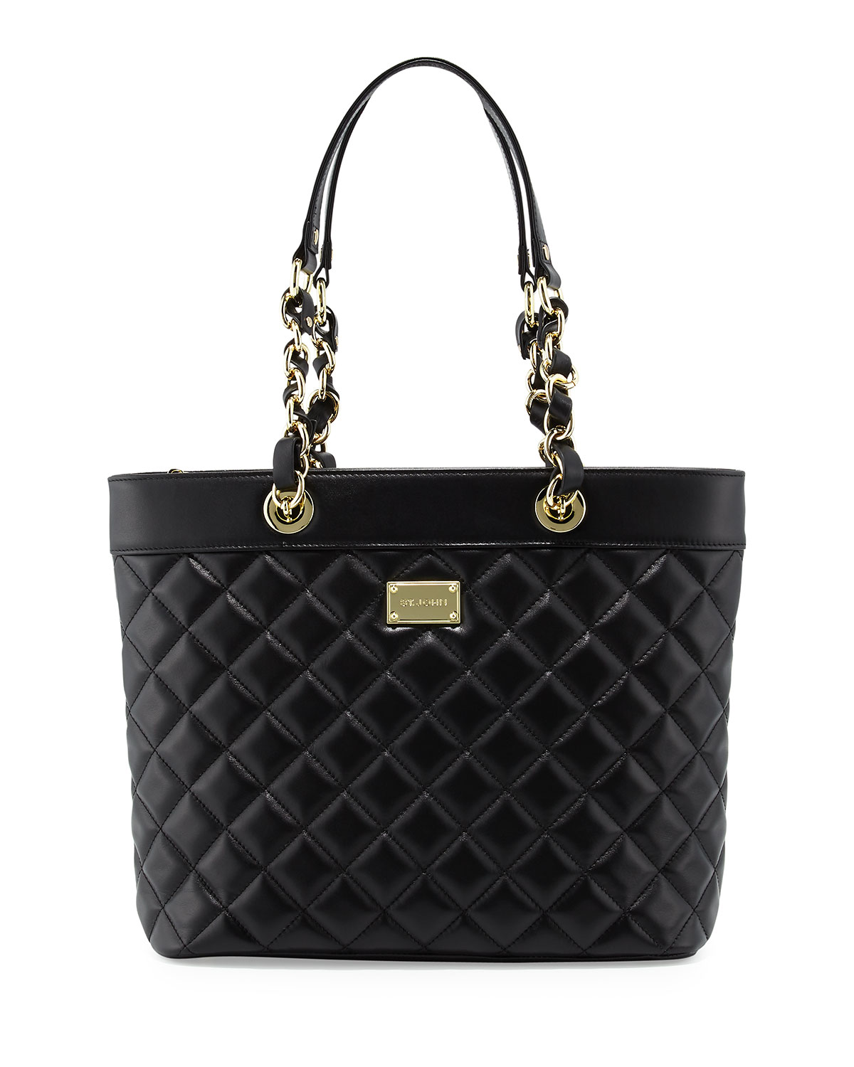 Black Quilted Leather Handbag | Neiman Marcus : black quilted leather - Adamdwight.com