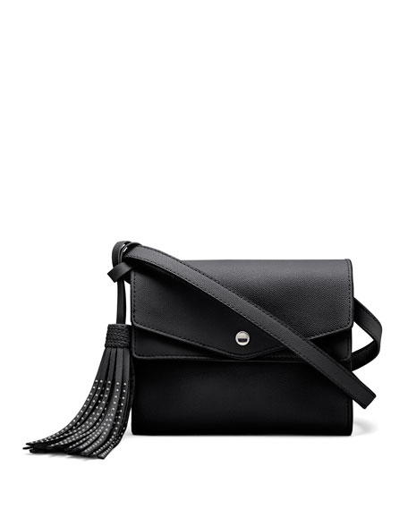 Eloise Field Leather Crossbody Bag, Black