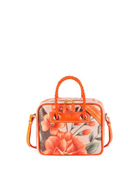 Balenciaga Blanket Square Medium Floral Shoulder Bag