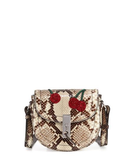 Altuzarra Ghianda Mini Python Saddle Bag with Sequined