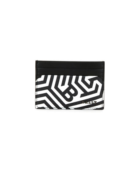 Bally Maze Men's Printed Business Card Holder