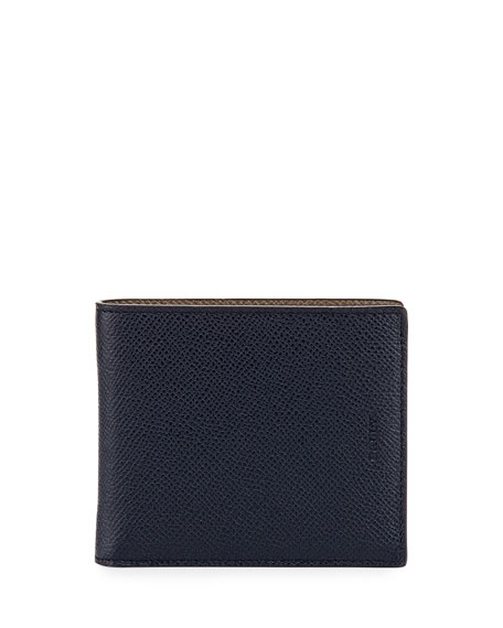 Bally Bonett Leather Single-Fold Wallet, Blue