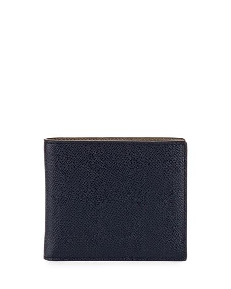 Bally Bonett Leather Single-Fold Wallet, Blue