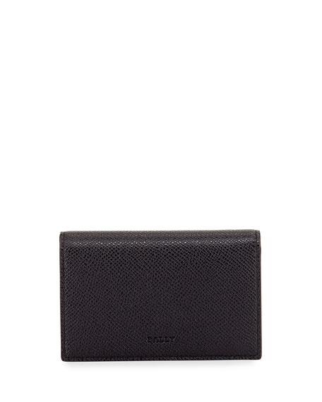 Bally Men's Leather Business Card Holder, Black