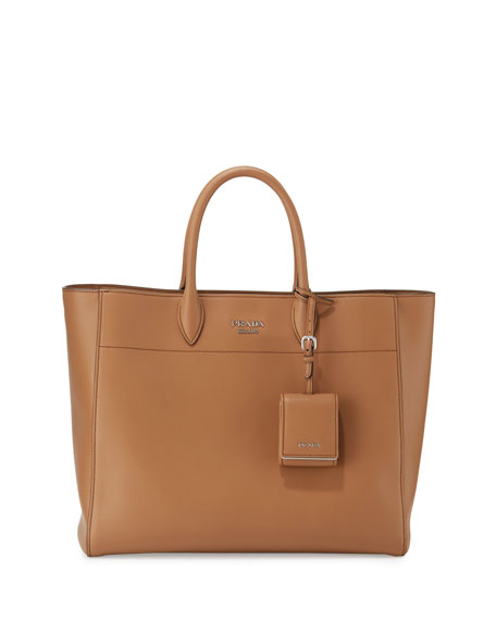 Prada City Calf Tote Bag, Caramel (Caramello)