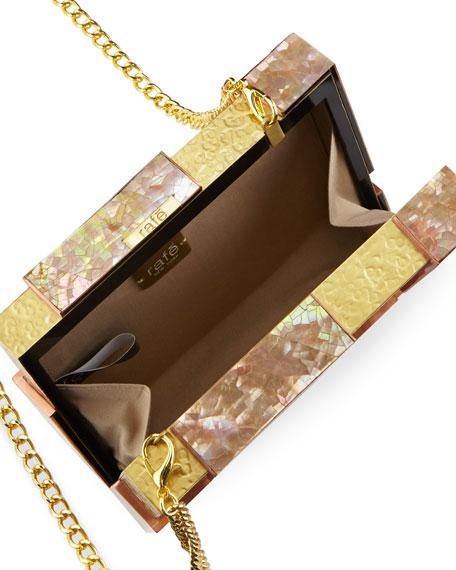 Ramya Cubist Minaudiere, Copper/Gold