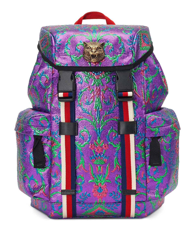 06c45aad8ed2 Gucci Techpack Brocade Backpack