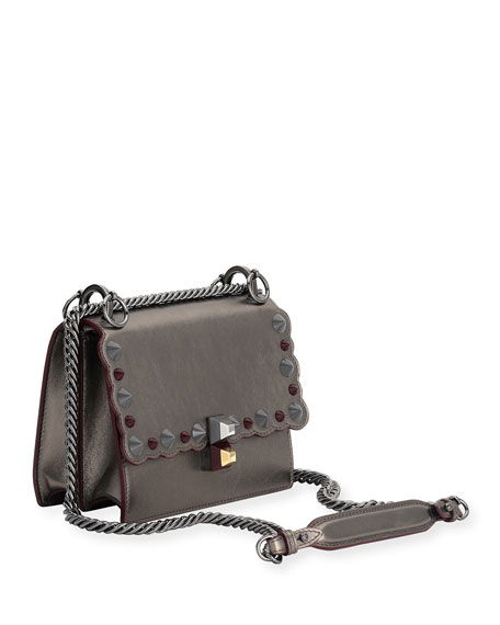 Kan I Mini Scalloped Studded Chain Shoulder Bag