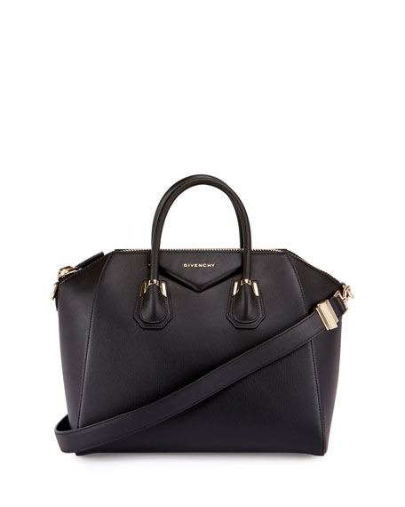 Givenchy Antigona Medium Pierced Leather Satchel Bag, Black