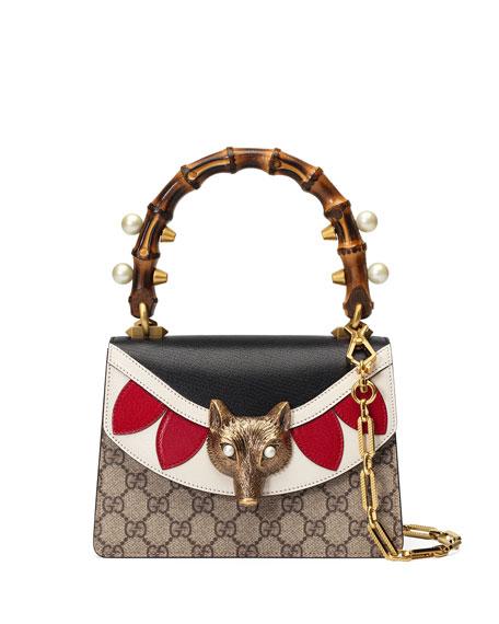 Gucci Broche GG Supreme Mini Bag, Neutral/Multi
