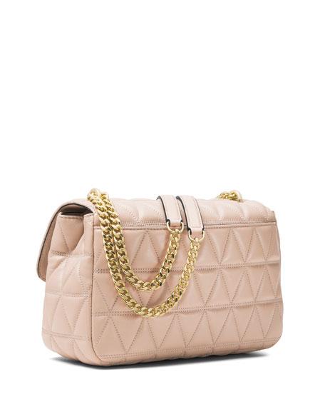 Sloan Quilted Leather Shoulder Bag, Pink