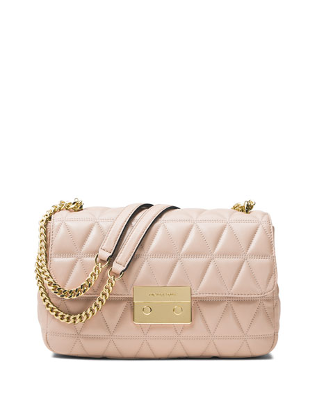 MICHAEL Michael Kors Sloan Quilted Leather Shoulder Bag,